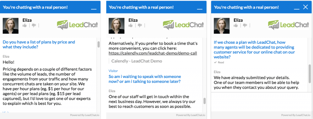 LeadChat 24/7 Managed Live Chat Service
