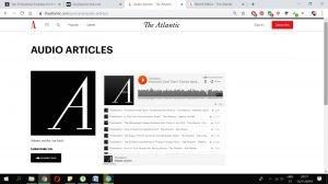 Audio articles