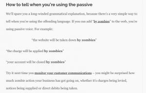 Passive Voice zombies
