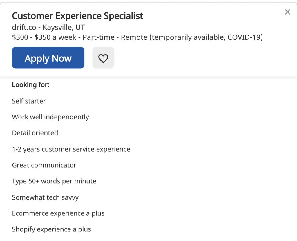 Remote Job Posting
