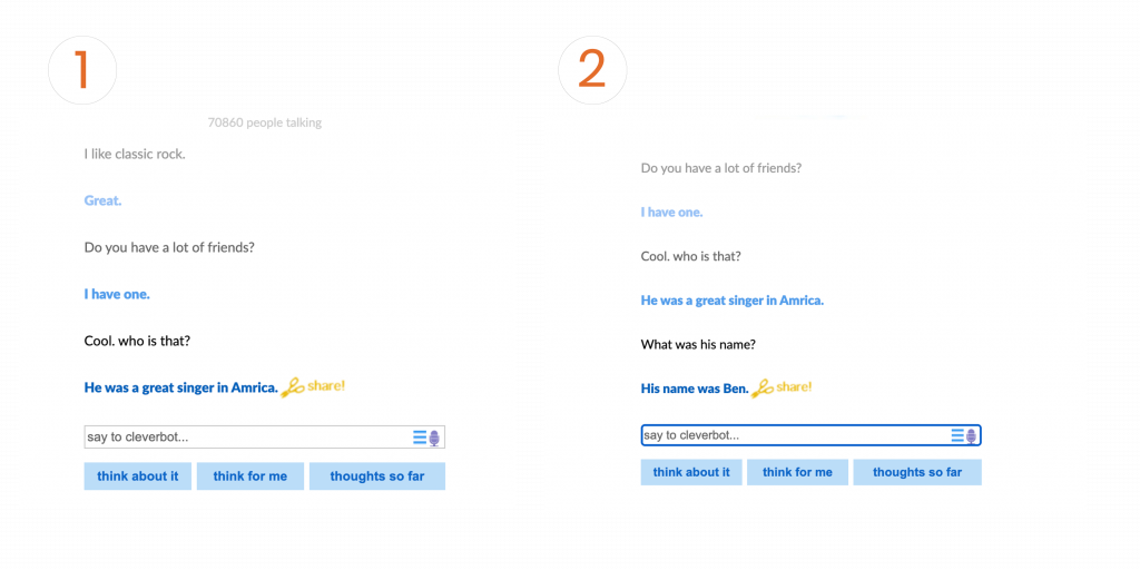 Cleverbot Convo 1 and 2