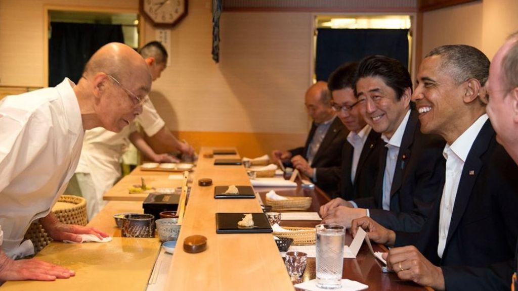Jiro Ono and Barack Obama