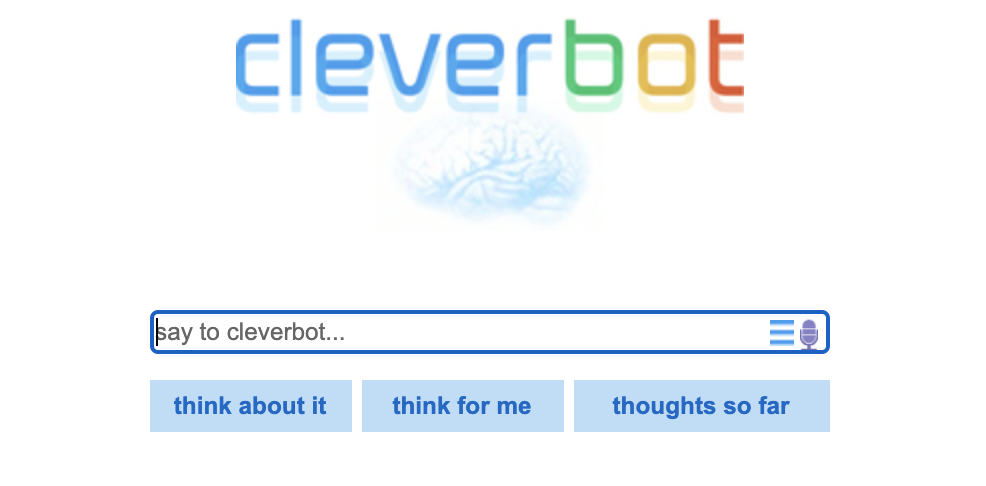 cleverbot is one of the best chatbots