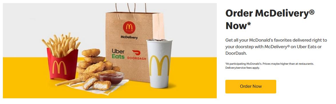 McDonalds landing page psychology