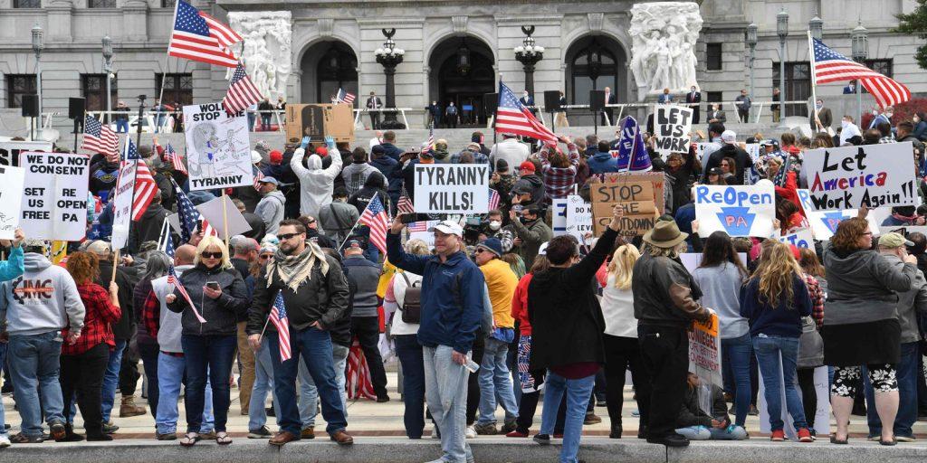 Harrisburg Lockdown Protests