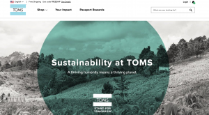 Toms - brand distinction through values