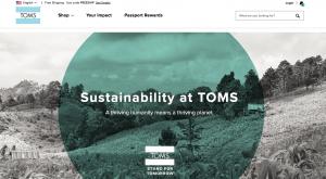 Toms - brand distinction through values