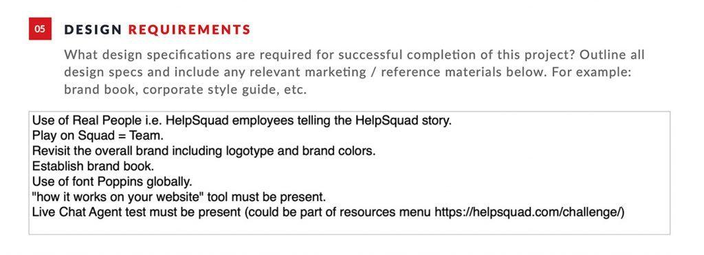 B2B Rebrand Client Brief 2